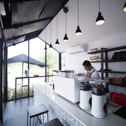 Black Gable Coffee Stand GB