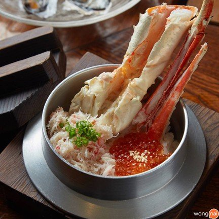 Crab with Salmon Roe Kamameshi Bowl
