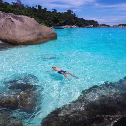 เกาะ 4 น้ำทะเลใสมากๆ