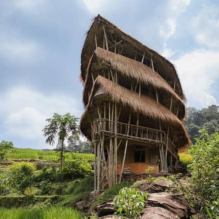 Giant Bamboo Hut