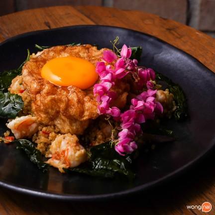 Quinoa กะเพรากุ้ง (280 บาท)