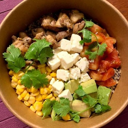 Mak Mak (Quinoa Healthy Power Bowls - Pizza Mia - Healthy Kra Pao - Vegetarian House)