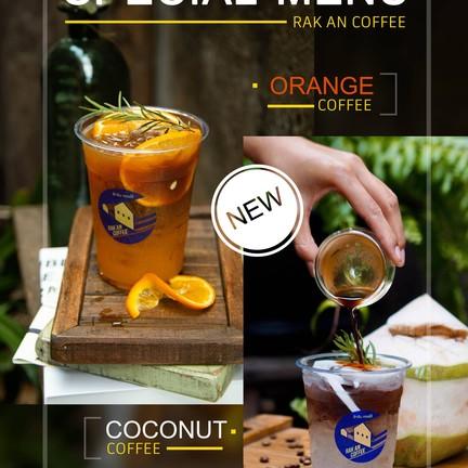 เมนูเด่นของร้านแนะนำ กาแฟมะพร้าว และกาแฟส้มค่ะ
