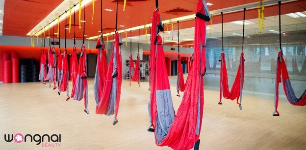 Beauty Party#5 : เหินฟ้าไปกับ Aerial Flow Yoga ที่ Fitness First