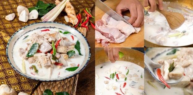 """วิธีทำ """"ต้มข่าไก่"""" เมนูอาหารไทย น้ำแกงกะทิเข้มข้น กลมกล่อมหอมรัญจวนใจ"""