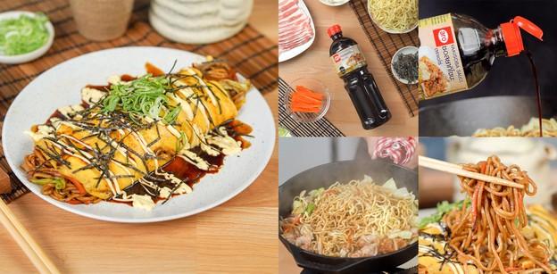 """วิธีทำ """"ยากิโซบะห่อไข่"""" เมนูอาหารญี่ปุ่น ไข่ซ่อนเส้น รสเด็ดเต็มคำ!"""