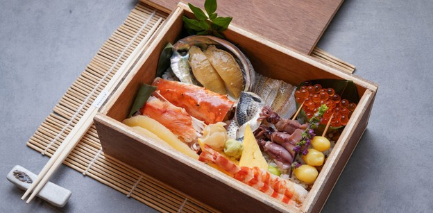 """Wakaba Wood Box"" เมนูอาหาร New Normal ของ Maguro Sushi"