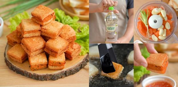 """วิธีทำ """"แซนด์วิชแซลมอนทอด"""" เมนูทอดขนมปังกรอบแซลมอนนุ่ม กินได้ทั้งบ้าน!"""