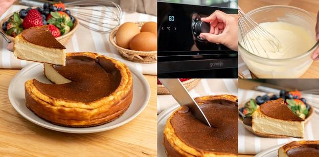 """วิธีทำ """"บาส์กชีสเค้ก"""" เมนูเบเกอรีหอมละมุน เนื้อแน่นฉ่ำเต็มรสครีมชีส!"""