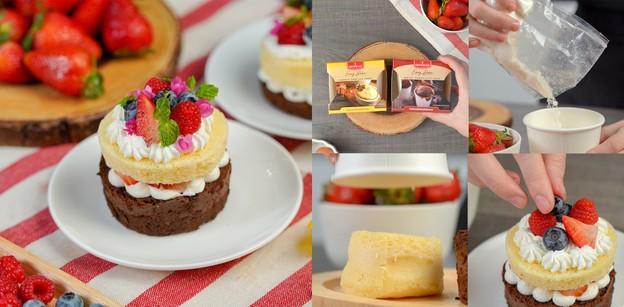 """วิธีทำ """"เค้กทูโทน"""" เมนูเค้ก ทำง่ายด้วยไมโครเวฟ"""