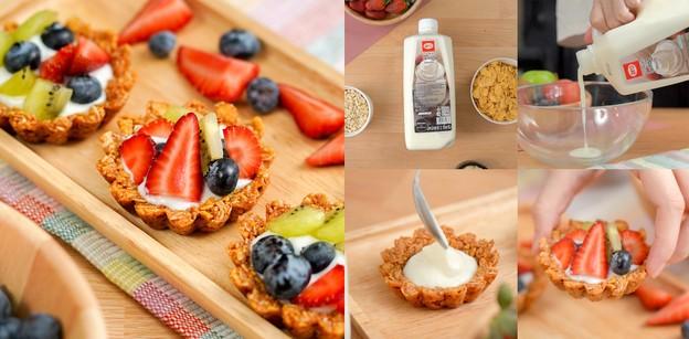 """วิธีทำ """"granola fruit tart"""" เมนูเพื่อสุขภาพ ทำง่าย แถมได้ประโยชน์"""
