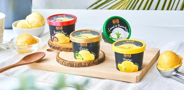 ไอศกรีม Sali ไอศกรีมผลไม้เกรดพรีเมียม สัมผัสเนียนนุ่ม หอมละมุนผลไม้