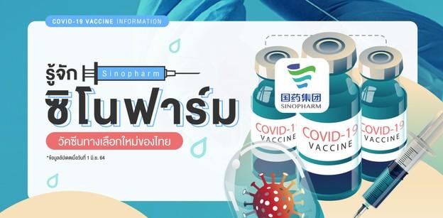 """รู้จัก """"Sinopharm (ซิโนฟาร์ม)"""" วัคซีนทางเลือกใหม่ของไทย"""