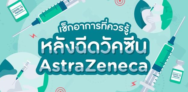 เช็กอาการที่ควรรู้หลังฉีดวัคซีน AstraZeneca