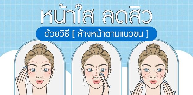 How To หน้าใส ลดสิว ด้วยวิธีล้างหน้าตามแนวขน!
