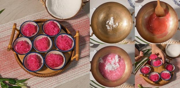 """วิธีทำ """"เกสรชมพู"""" เมนูขนมไทยหากินยาก หวานละมุน ทำตามง่ายทำขายคล่อง"""