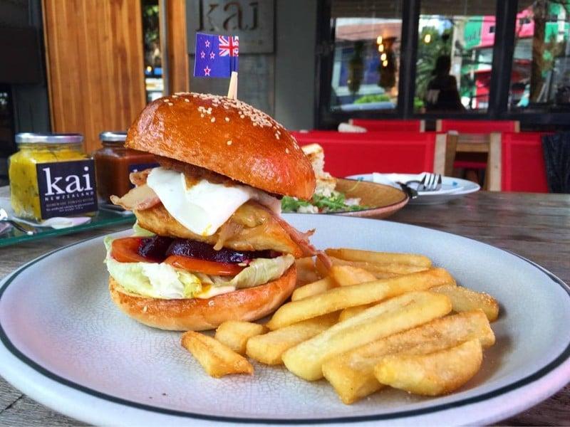 Kai kiwi Burger