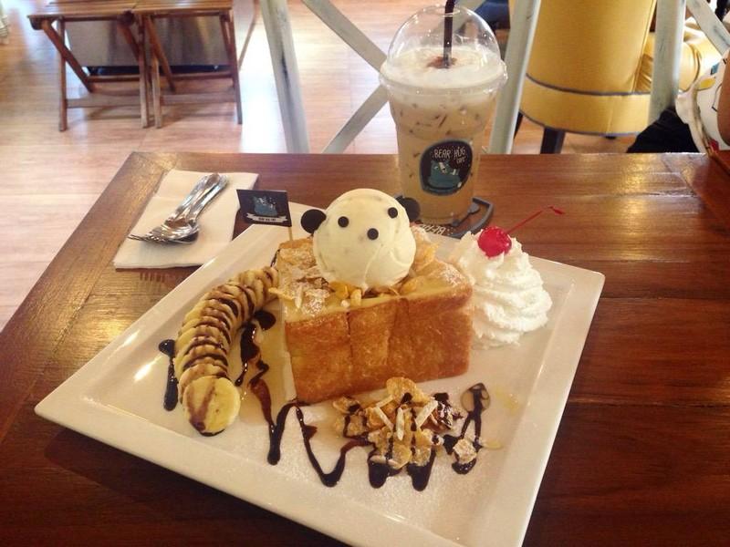 cheesy honey toast