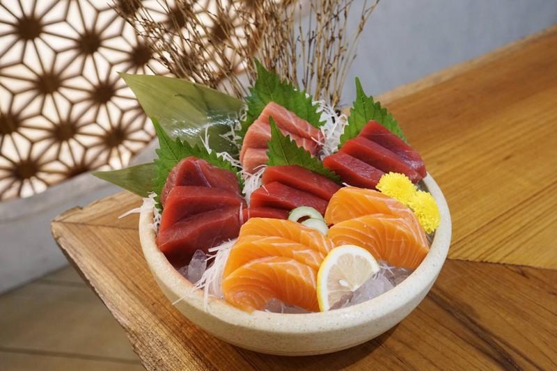 Salmon, Akami, Chutoro Sashimi