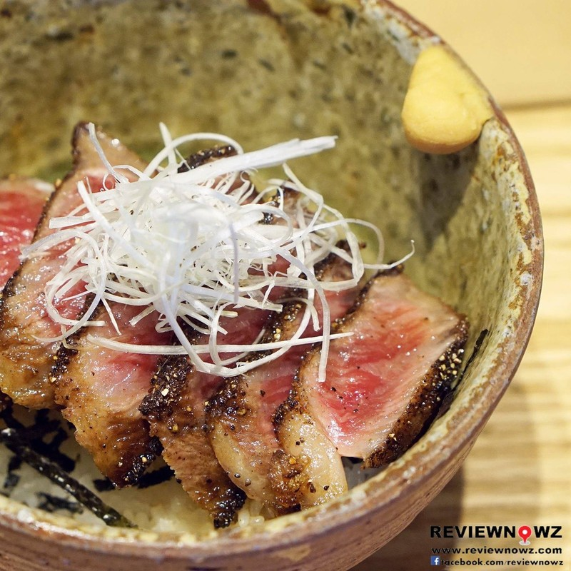 Fillets wagyu don + free miso soup