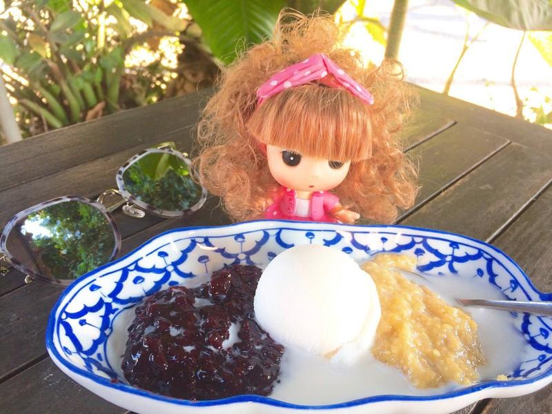 ไอศกรีมข้าวฝ่างข้าวเหนียวดำ
