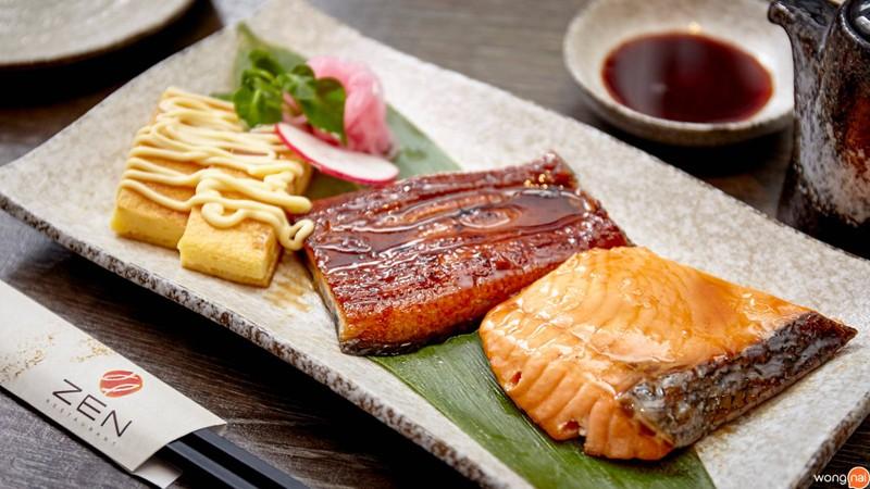 ชุดแซลมอน และปลาไหลญี่ปุ่นเทริยากิ##1