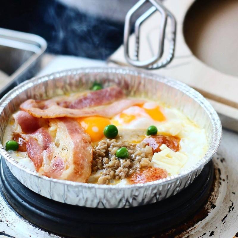 ชุด1 ไข่กระทะครบสูตร (ชีส+เบคอน)