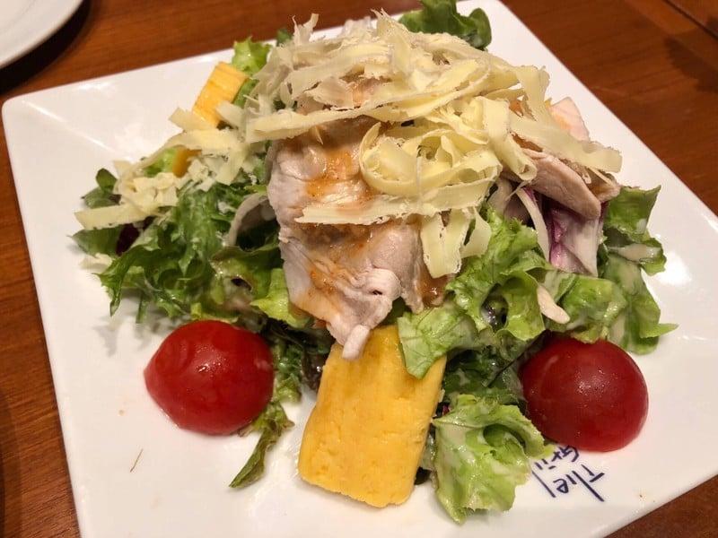 Salad With Pork Shabu-shabu And Egg Omelet