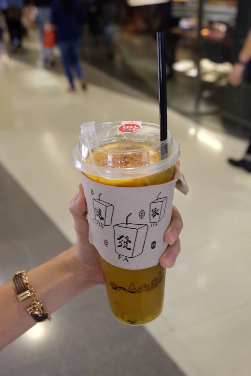 ( L ) ชาผลไม้น้ำตาลเผา