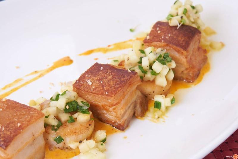 Seared Scallop and Kurobuta Pork Belly