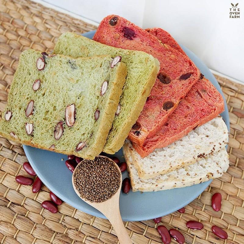 The Oven Farm ขนมปัง 3 สี (บีทรูทวอลนัท,งาม่อน,ฟักทองลูกเกด)