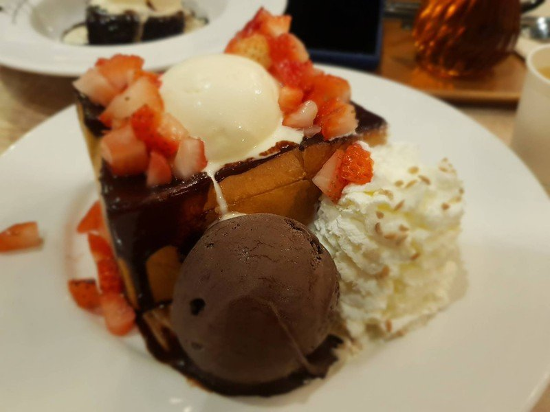 Chocolate toast with strawberry##2