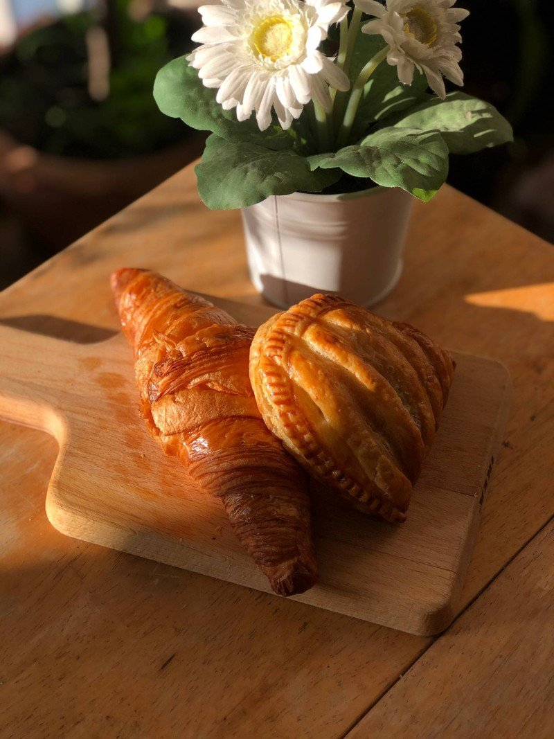 Apple Turnover and Heritage Croissant