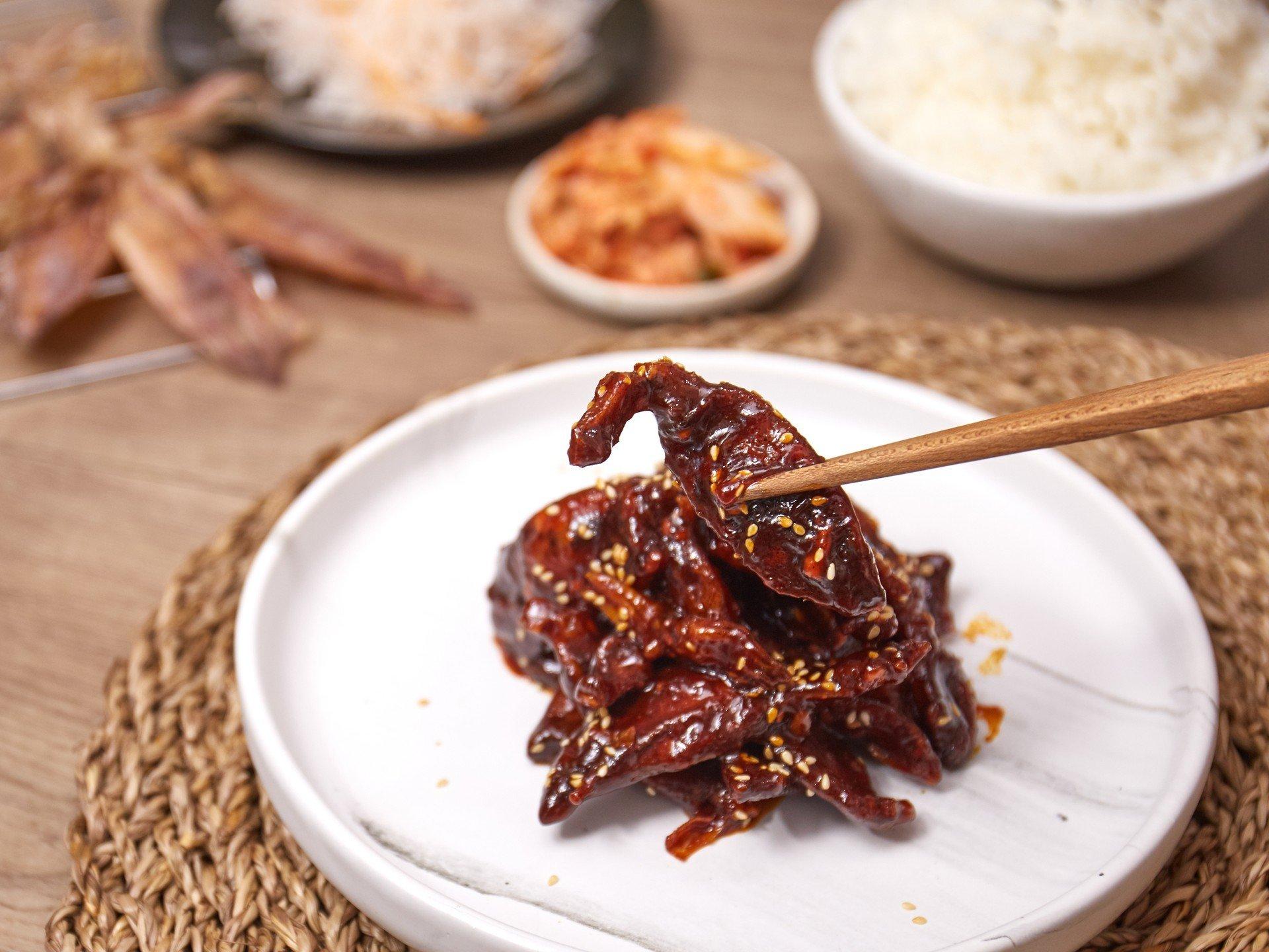 ปลาหมึกซอสเกาหลี