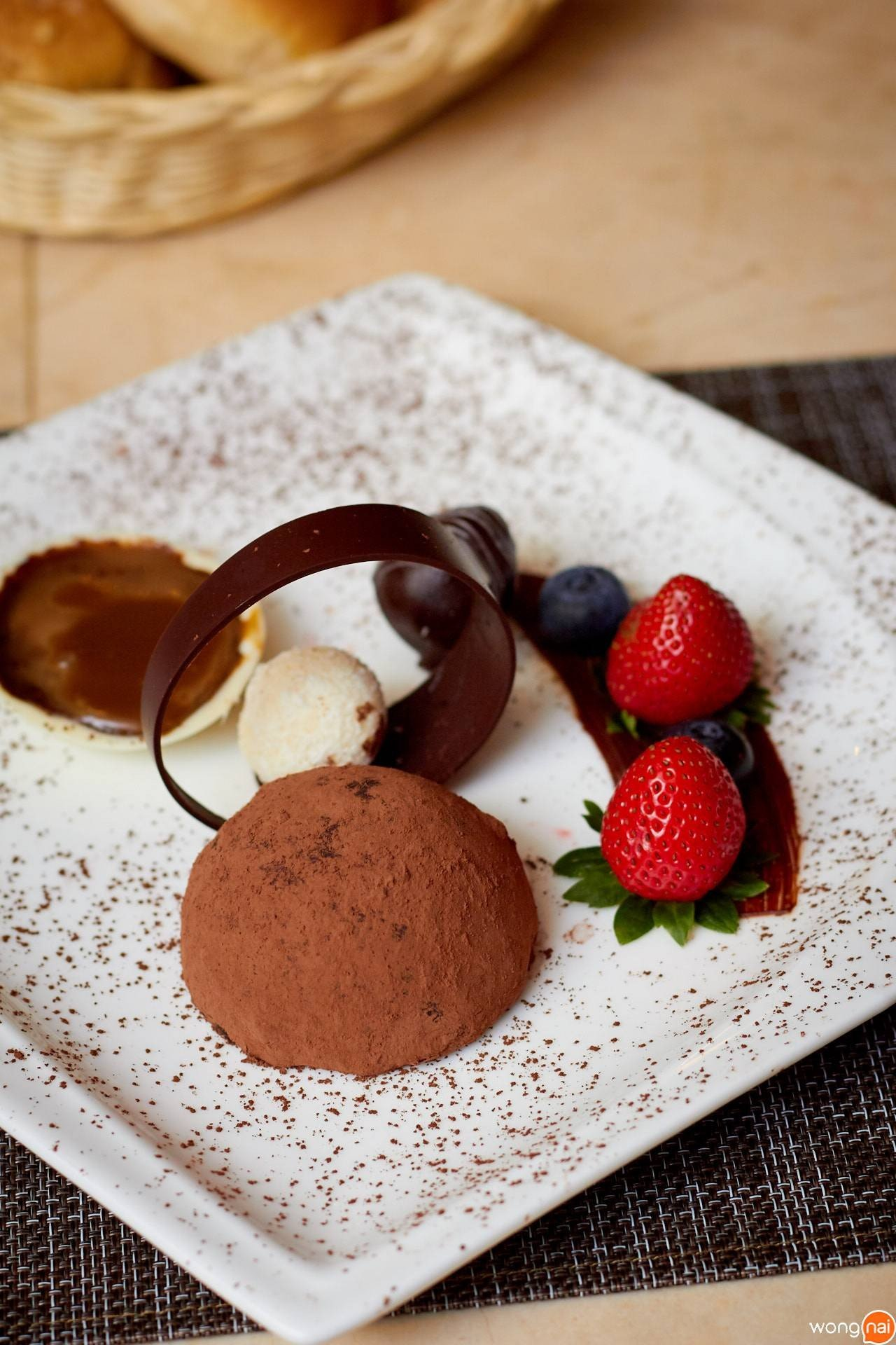 Chocolate Truffle Soaked in Freshly Brewed Coffee  ของร้าน No.43 Italian Bistro
