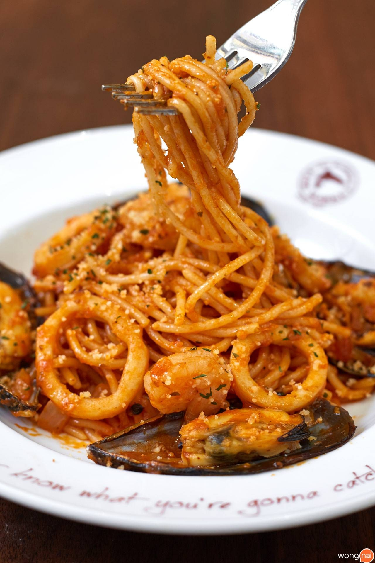 Spaghetti In The Sea ของร้าน The Manhattan Fish Market