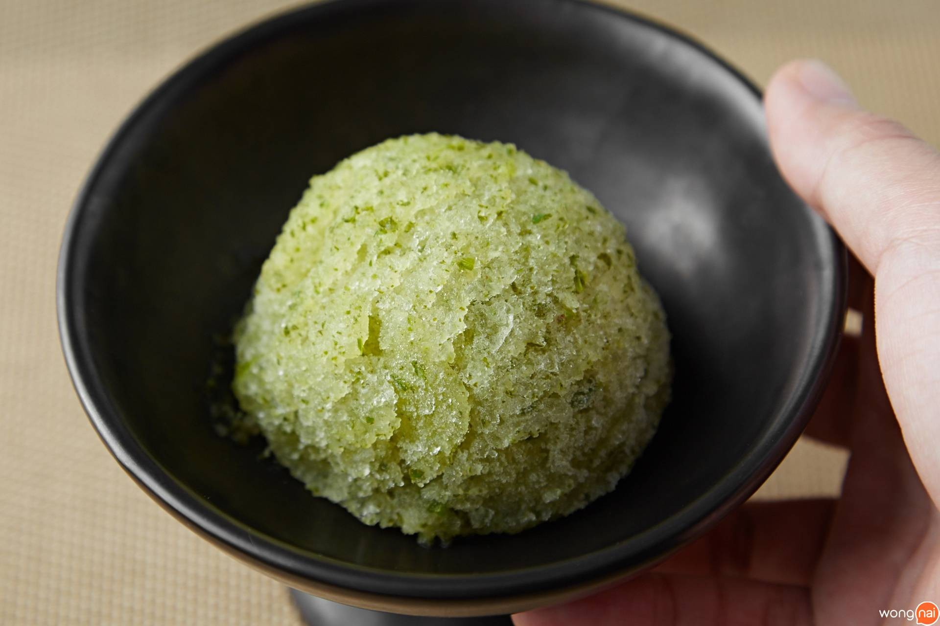 """Coriander And Apple Sorbet"" ของร้าน ""Miyu Ginza"""