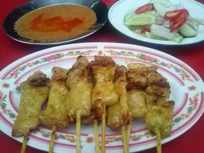 หมูสะเต๊ะแปลงนาม (Moo satae Plang Narm)
