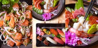 เห็นแล้วเปรี้ยวปาก! พบกับยำแซลมอนและอาหารญี่ปุ่นราคาเบาๆ @ Ta-Ke Sushi