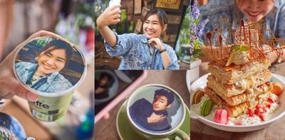 """กินได้ไม่ได้โม้! ลาเต้หน้าคน """"ที่แรก"""" ในประเทศไทย @ KC Selfie Coffee"""