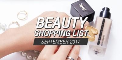 รวมลิสต์บิวตี้ไอเท็มน่าซื้อ ประจำเดือนกันยายน 2017
