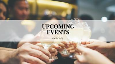 Upcoming Events ประจำเดือนตุลาคมนี้!
