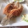 ปลากระพงทอดน้ำปลาตัวใหญ่มาก เลาะก้างใหญ่ออกให้หมดทานง่าย ราคา 380 บาท