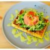 Nara Wasabi Smoked Salmon Waffle  290B