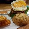 เมนูของร้าน Jim's Burger ซอยเสนานิคม
