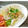 เนื้อปลากะพงนึ่งมะนาว (จานเล็ก 85B)