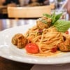 Spaghetti Spicy Pork Ball (210THB)
